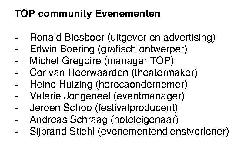 KaderCommunityledenEvenementen